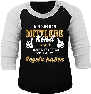 KLEINER FRATZ Babyshirt Kinder Jungen T-Shirt Multicolor Langarm M/ädchen Shirt Ihre Majest/ät Das Enkelkind