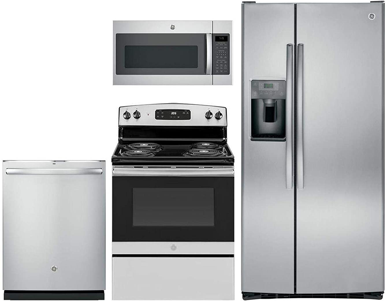 GE 4 Pcs Kitchen Package with GSS23GSKSS 33