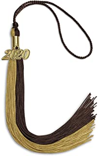 Endea Graduation Double Color Tassel With Gold Date Drop
