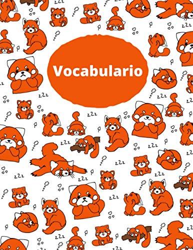 Libro de Vocabulario del Panda Rojo: El libro de vocabulario más hermoso que hayas tenido