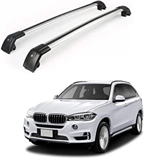 MotorFansClub Roof Racks Crossbars for BMW X5 F15 2014-2018 Lockable Baggage Luggage Racks Roof Rail Cross Bar (2 PCS)