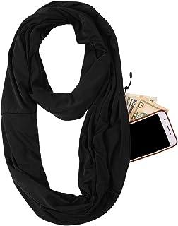 JOKHOO Infinity Scarf Wrap with Secret Hidden Zipper Pocket, Best Travel Scarfs
