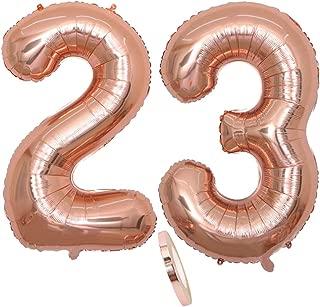 N/úmero gigante globo rosa N/úmero 2-20 a/ños N/úmero globo 2 a/ños Decoraci/ón Cumplea/ños gigante de la boda 80 CM n/úmero 2 ShopVip Globos de cumplea/ños