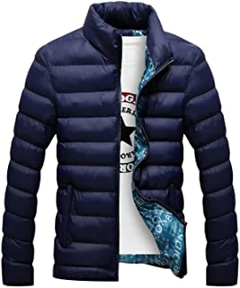 Thick Jacket Men Autumn&Winter Men's Cotton Blend Mens Bomber Jacket and Coats Casu,deep Blue,4XL