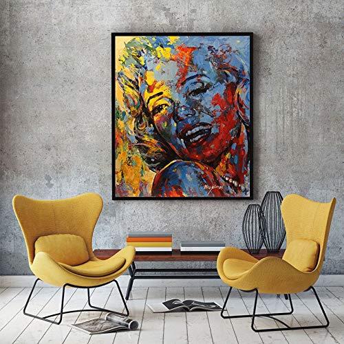 GoldLife Marilyn Monroe Poster Canvas Schilderij Abstracte Kunst Canvas Muur Foto Voor Woonkamer Foto Home Decor Unframed60x80cm No frame