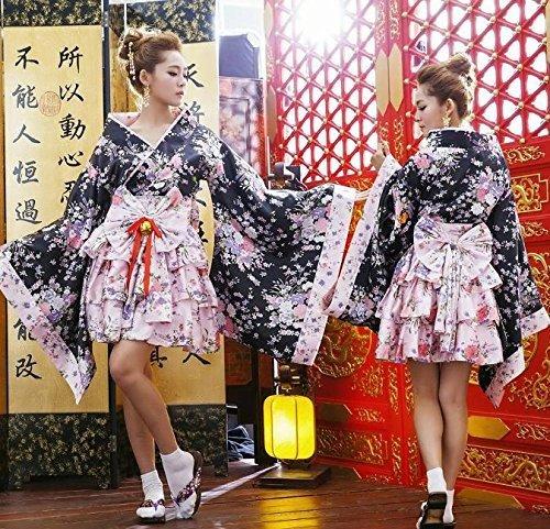 『花魁 着物 足袋 帯付き コスチューム レディース フリーサイズ』の2枚目の画像