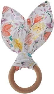 Beige ours I Love Mom silicone//bois RUBY Kit 2 unit/és Attache et Hochet sucette personnalis/é avec nom