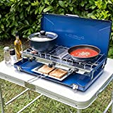 <span class='highlight'>Campingaz</span> Elite Camping Chef Double Burner and <span class='highlight'>Grill</span>, Blue, One Size