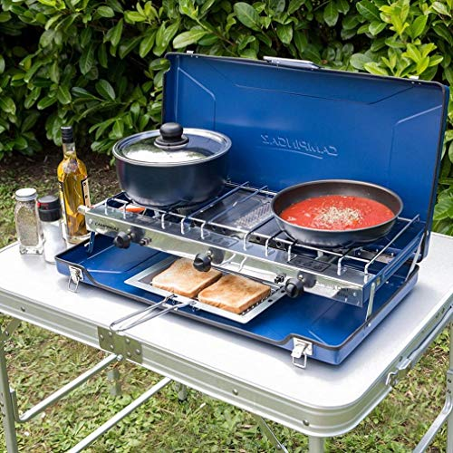 Campingaz Elite Camping Chef Double Burner and Grill, Blue, One Size
