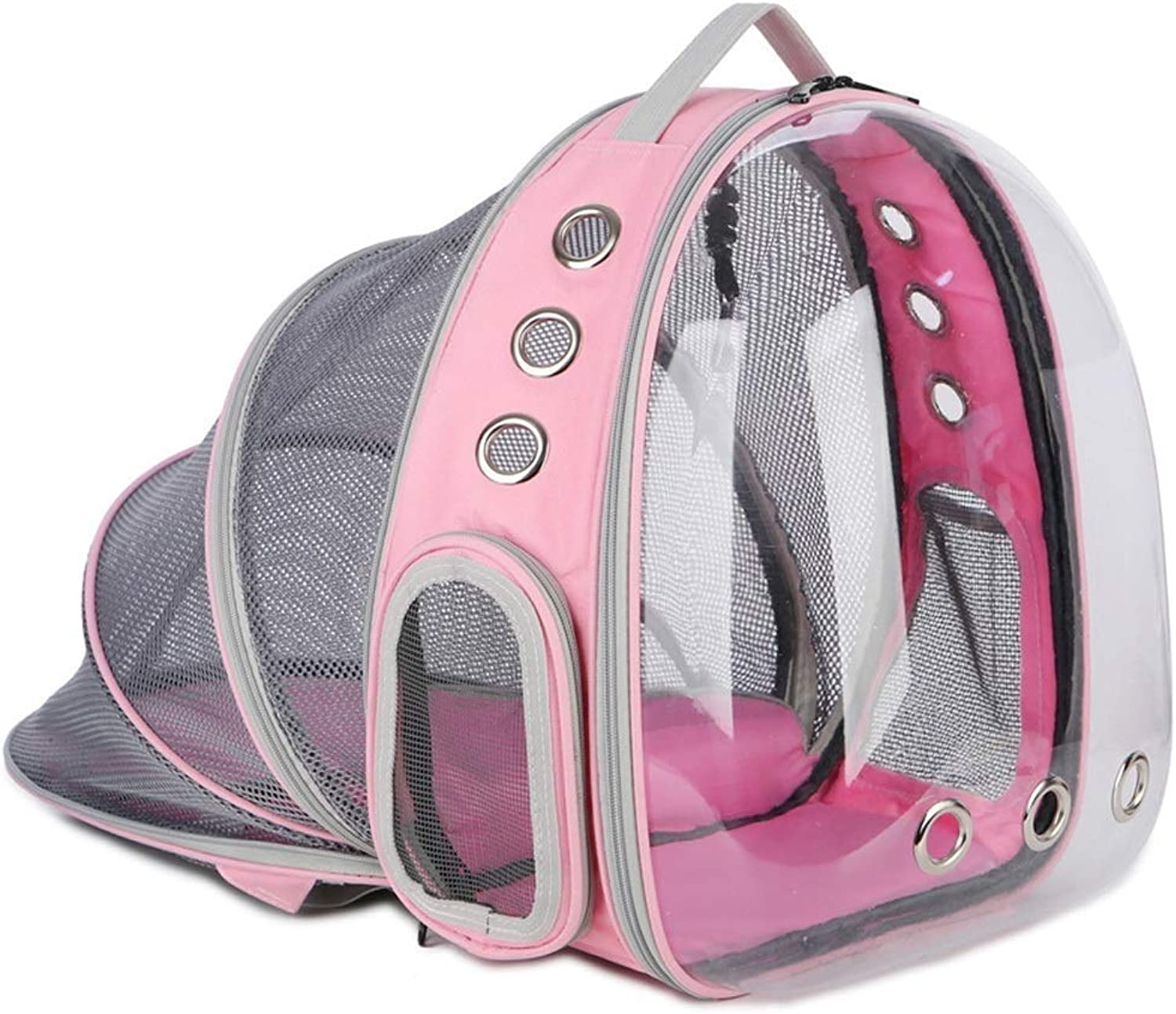 Portable Cute Pet Backpack Retractable Backpack Pet Outdoor Transparent Pet Capsule Backpack Pet Traveler 13in11in16.5in Comfortable And Durable Multicolor Optional (color   Pink)