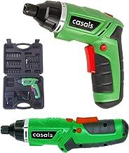 Casals VDSLI36AC - Atornillador plegable con batería de litio de 3.6 V )1,3 A-h, 180 rpm, 3 N-m, con maletín) color verde y negro