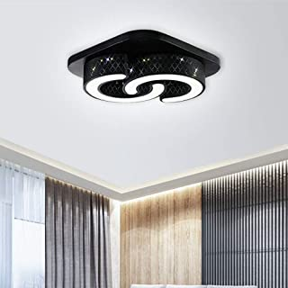 64W Lámpara de techo LED, lámpara de techo para salón, cocina, sala de estar, oficina, clase de protección de lámpara moderna (C-Design 64W Luz Blanca Concha Negra)
