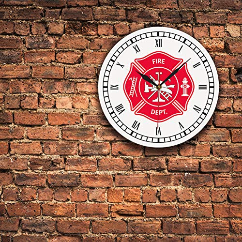 N/A Kruis vintage klok eerste antwoordapparaat brandweerman badge logo wandklok met cijfers brandweerman geschenken