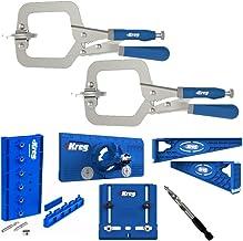 Kreg Classic 3-Inch Face Clamp, Drilling Jig, Concealed Hinge Jig, Drawer Slide Jig and..