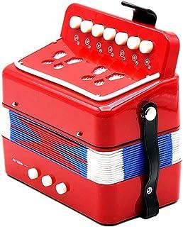 Tickasミニ 小さいながらも本格的! 子供用 2ベース キッズ アコーディオン 7キー 知育玩具 音楽楽器 幼児楽器 大人も楽しめます リズムバンド 3色選択可能【並行輸入品】