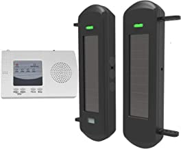 HTZSAFE Solar Wireless Driveway Alarm System-1/2 Mile Long Transmission Range-300 Feet Wide Sensor Range-No Wiring No Need...