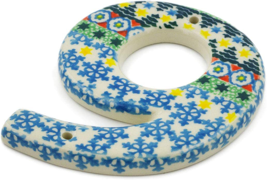 Polish Pottery We OFFer at cheap prices 4-inch House Number NINE Art Quantity limited by Ceramika made 9
