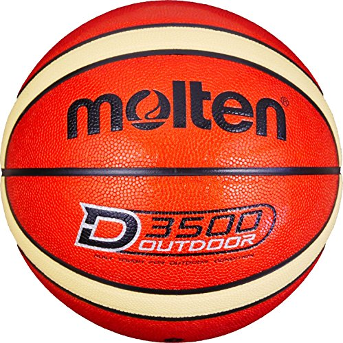 Molten Herren B7D3500 Basketball, Orange, 7