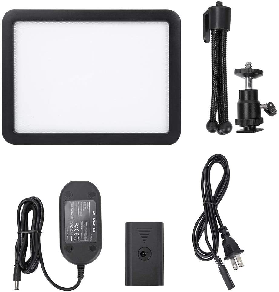 LED Video Light US Bi-Color 3300-5600k Dimmable Video Light with Tripod LED On-Camera Video Light Kit for All DSRL Cameras and Camcorders.