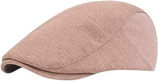 Xesvk Fashion Berets -Men Women Peak Blinder Hat Baker Boy Hat Cap Peak Newsboy Herringbone Flat Cap