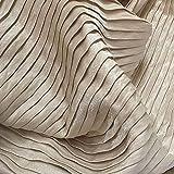 Tessuto al metro- Tessuto Glitter Tessuto Plissettato Per Abiti Di Design, 0,5 M