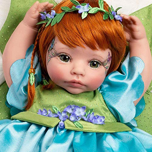 Paradise Galleries Reborn Fairy Doll - Pixie, 19 inch Toddler, GentleTouch Vinyl, Caucasian Skintone, Red Hair, 5-Piece Doll Gift Set