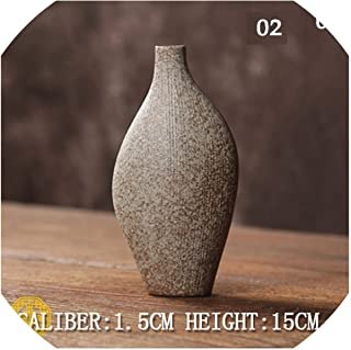 shiny star show Ceramic Vase Decorative Ceramic Flower Vase for Homes Porcelain Vases for Wedding Tabletop Vase Decor,Brown 02