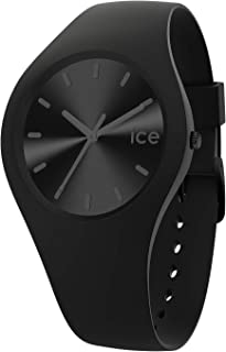 Ice-Watch - Ice Colour Phantom - Montre Noire Mixte avec Bracelet en Silicone - 017905 (Medium)