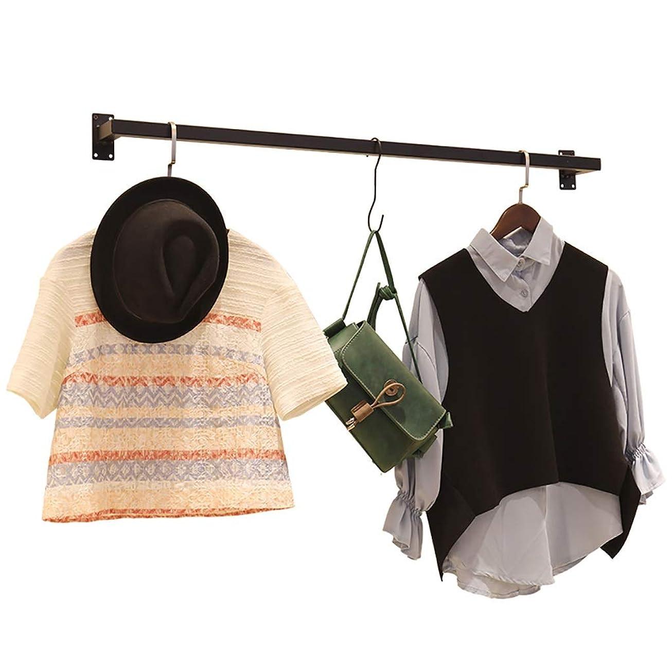 ナチュラルスペース霧鉄の衣服の棚の壁の台紙、商業衣服の表示棒、掛かる収納長さ100cm / 120cm衣服の棚 (Size : 120cm)