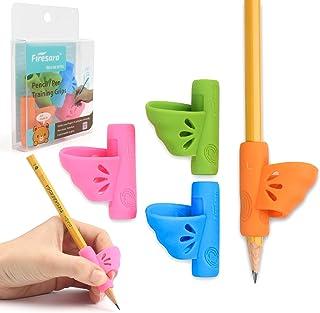 鉛筆もちかた 矯正 左手 鉛筆持ち方 Firesara ペングリップ 左利き 4個 蝶々 はじめてセット 子供 柔らかい 筆圧 疲労を軽減 鉛筆グリップ 鉛筆セット 面白い勉強セット