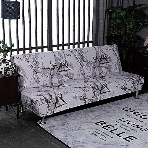 Carvapet Armlos Elastischer Sofabezug Sofaüberwurf Antirutsch Elastische Sofahusse Sofa Abdeckung Hussen überwurf für Sofa (Schwarzgrau)