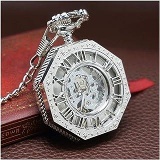 Pocket watch Montre de Poche - New Creative Retro Nostalgie Flip mécanique Montre de Poche Hommes et Femmes Roman Creux Tu...