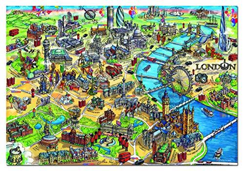 Educa Borras - Serie City Maps, Puzzle 500 piezas Mapa de Lo
