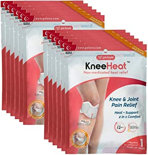 KneeHeat Heat Wrap for Knee and Joint Pain Relief - Pack of 12 (Patches/Wraps/Pads)