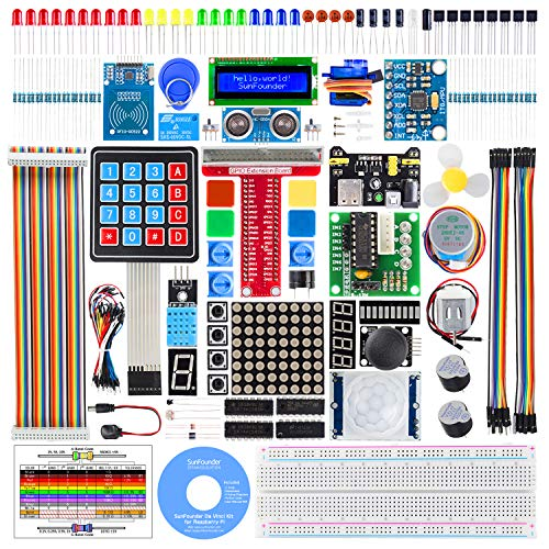 SunFounder Raspberry Pi Starter Kit with Detailed Tutorials Compatible with Raspberry Pi 4B 3 B+ 400, Support Python C, Learn Electronics and Programming for Raspberry Pi Beginners