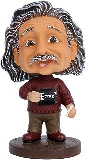 Dolls2u Albert Einstein Bobblehead / Einstein Doll Car Dashboard Bobblehead Accessories / Desk Decor (Dark Red)