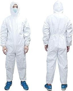 エースグローブ 不織布つなぎ防護服 フード付 透湿PEラミネート加工 AG6900 4Lサイズ ホワイト