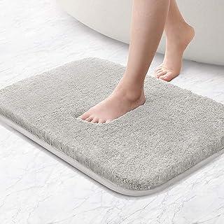 Bath mat non-slip bath mat thickened bath mat soft bath mat Fluffy microfiber bath rugs, super absorbent, machine washabl...