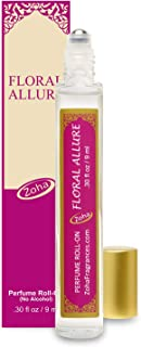 Floral Allure Perfume Oil Roll-On (No Alcohol) - Natural Organic Essential Oils and Hypoallergenic Vegan Perfumes for Wome...