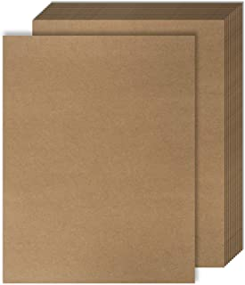 60 Kraft Paper - Brown Stationery Paper - Brown Craft Paper for Arts and Craft, Drawing, D.I.Y. Projects- Letter Size Kraft Paper - Laser & Inkjet Printer Compatible - 8.5 x 11 Inches