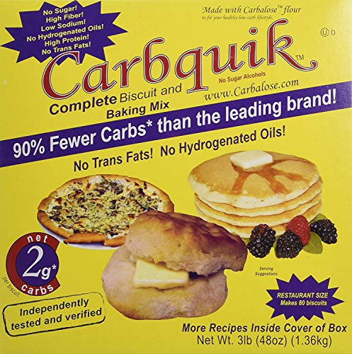 Carbquik Baking Biscuit Mix (48oz) - 2 Pack (Original Version)