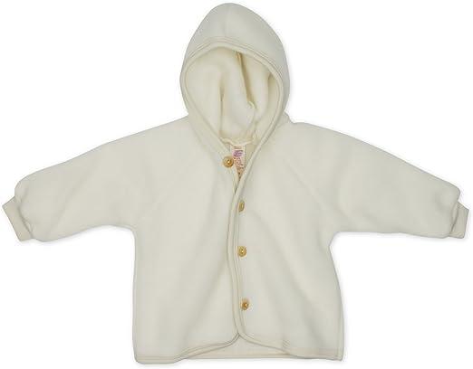 Engel Natur 100/% lana Chaqueta de rizo para beb/é con capucha kbT