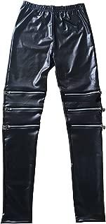 RieKet Women's Faux Leather Leggings Juniors Skinny Stretchy Pants