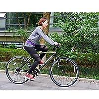 クロスバイク マウンテンバイク 超軽量高炭素鋼 自転車 高さ調節可能 6段階の変化速度 組み立てやすい 前後フェンダー付属