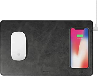 Gaze PAD Qi Wireless Fast Charging Mouse Pad Mat for iPhone X iPhone 8 Galaxy S8 S9 Plus Samsung Note 8 9 (Black)