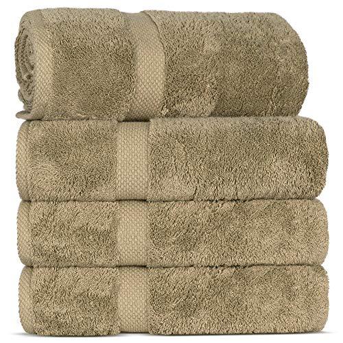 Luxury Premium Turkish Ring-Spun Cotton 4-Piece Bath Towels (Driftwood)