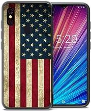 for Umidigi F1 Case, Umidigi F1 Play Case, ABLOOMBOX Shockproof Slim Thin Soft Flexible TPU Silicone Protective Cover for Umidigi F1/F1 Play Vintage American Flag