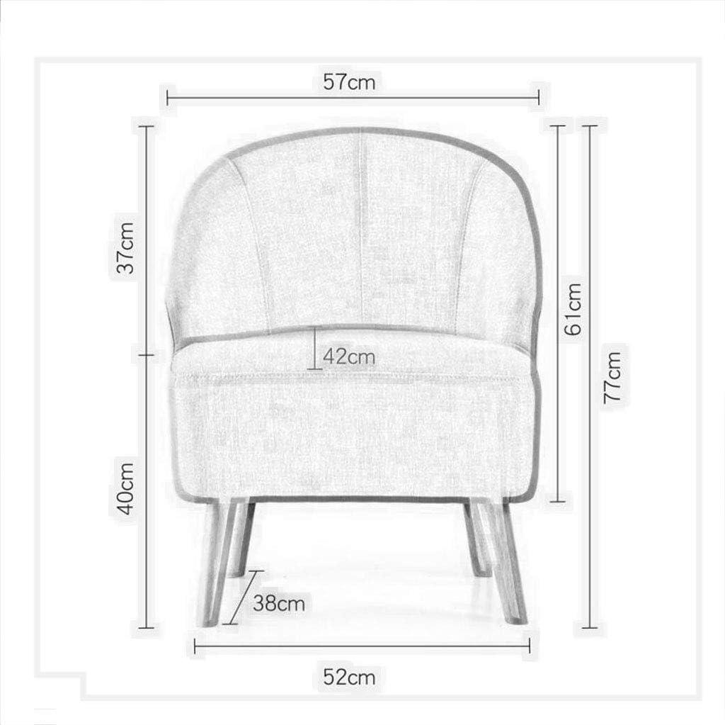 HURONG168 Chaises de cuisine Nordic moderne canapé chaise chambre petit appartement salon salle à manger chaise de loisirs siège lounge (Couleur : 1#) 4#