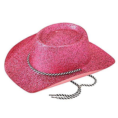 Bristol Novelty BH634 Cowboy Glitzer Hut, Damen, Pink, Einheitsgröße