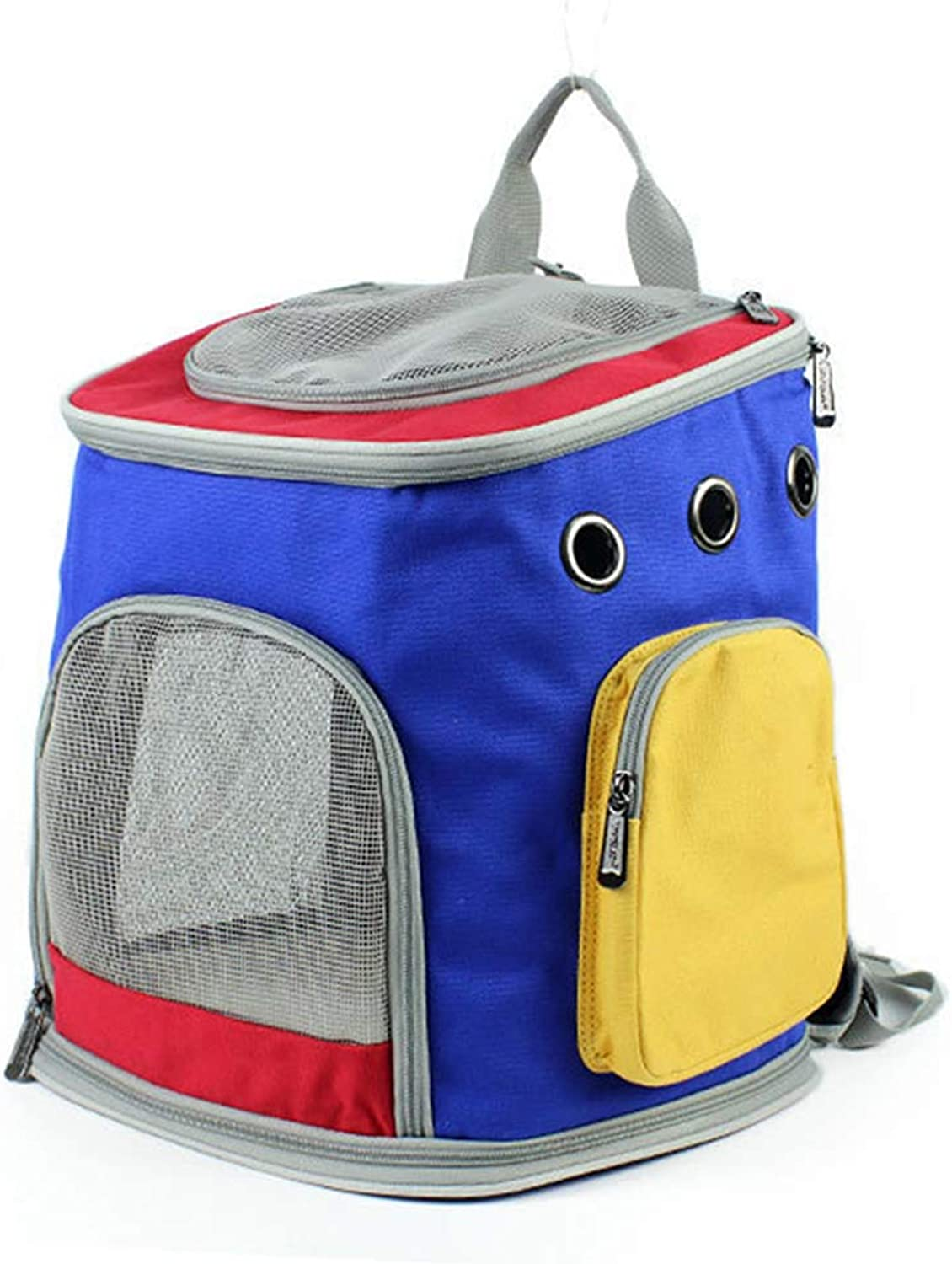 Carrier Pet Backpack for Small Dogs Cats Rabbits Threecolor Canvas Breathable UltraLight Shoulder Portable Out pet Backpack for Outdoor Travelling